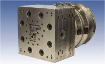 Front view of an extrusion die