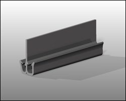 Rendering of an extruded seal for automotive seating