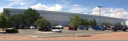 Panoramic view of Sierra Plastics facility.