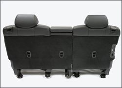 A photo of an engineered seatback using Baypreg technology