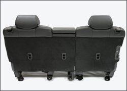 A photo of an engineered seatback using Baypreg technology