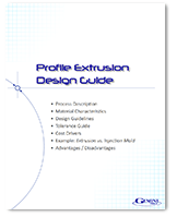 "Cover of a whitepaper titled, ""Profile Extrusion Design Guide."""