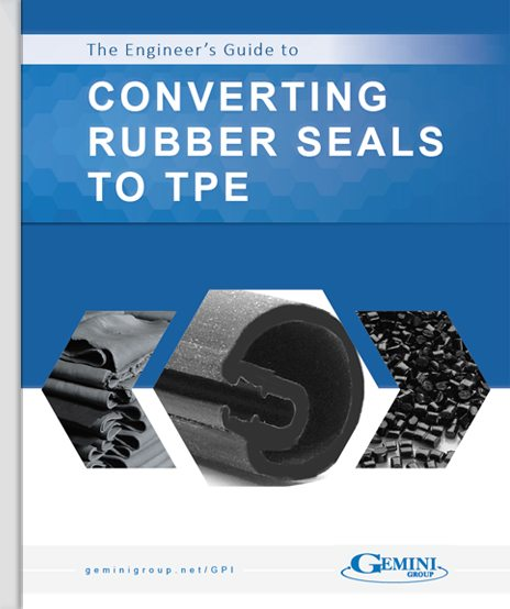 "The cover of a whitepaper titled, ""Converting Rubber Seals to TPE."""