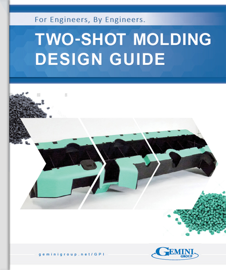 The cover of the Two-Shot Injection Molding Design Guide