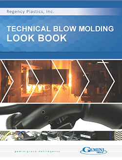 The cover of the Technical Blow Molding Look Book, a collection of high-resolution photos of custom blow molded parts.