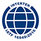 The Intertek IATF 16949:2016 certification icon.
