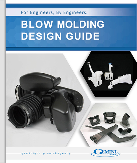 The cover of the Blow Mold Design Guide.