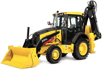 A backhoe used in the construction industry.