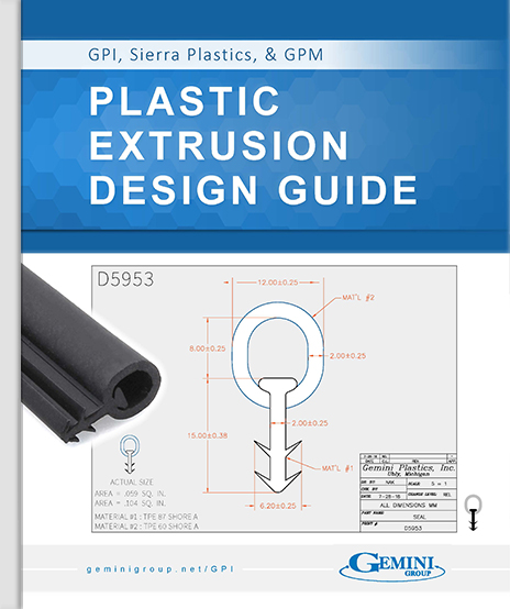 The cover of the plastic extrusion design guide.