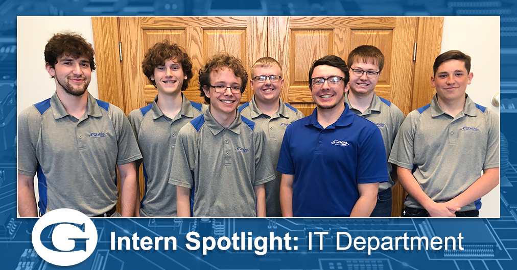 A group shot of Gemini Group's IT department summer interns.