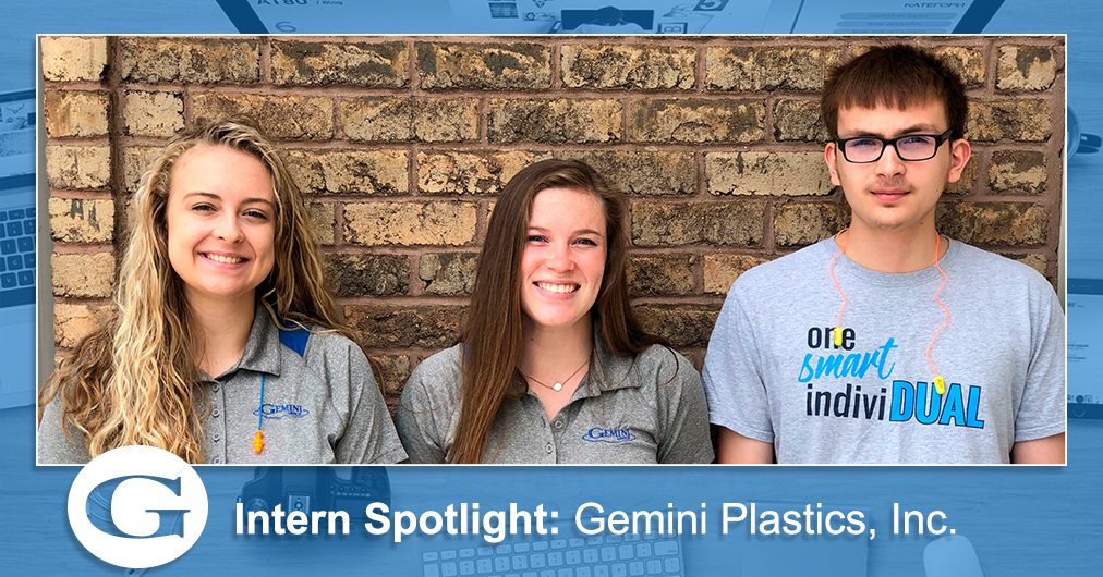 A group shot of Gemini Plastics, Inc.'s summer interns.