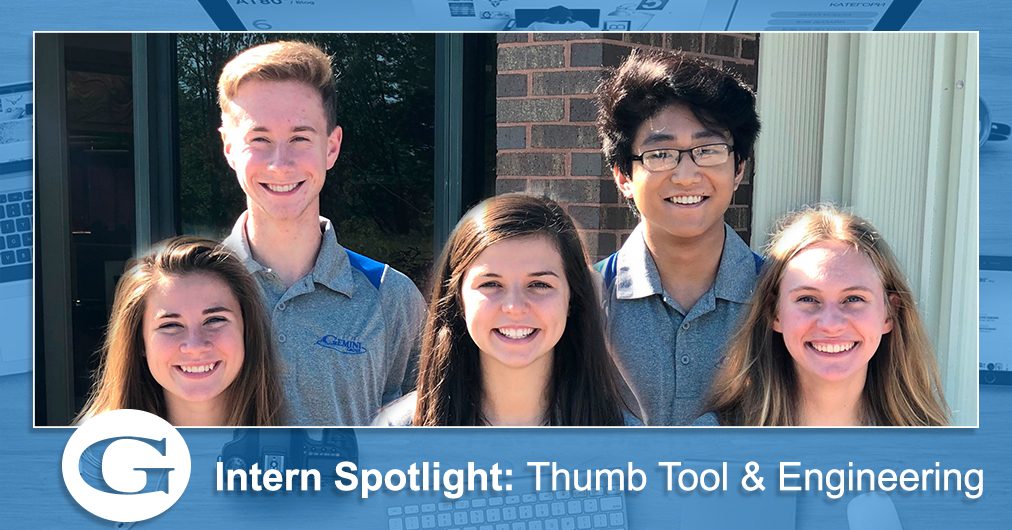 A group shot of Thumb Tool and Engineering's summer interns.