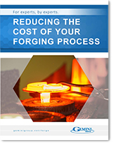 The front cover of an e-book that helps readers reduce the cost of their forging process.